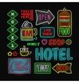 Light neon labels vector image