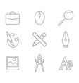 monochrome set with line graphic design icons vector image