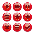 a set of buttons for gaming interfaces vector image vector image