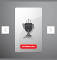 award competitive cup edge prize glyph icon in vector image vector image