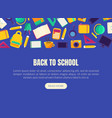 back to school landing page template vector image vector image