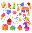 birthday party celebration set vector image