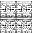 black and white ethnic pattern vector image vector image