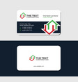 business card for a real estate auction vector image