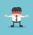 businessman with a red cloth reflects anxiety vector image vector image