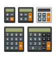 calculator icons set on white background vector image vector image