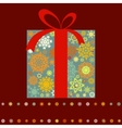 christmas box background vector image vector image