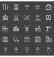 City or town icons vector image vector image