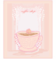 coffee cup from hearts vector image