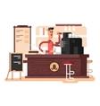 Coffee shop interior vector image vector image