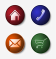 Color set of round web buttons vector image vector image