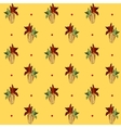Corn pattern yellow background vector image