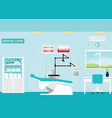 dental care clinic or dentist office interior vector image vector image