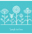 Dotted doodle flowers vector image