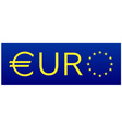 Euro flag European union sign vector image