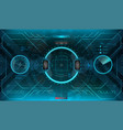 futuristic vr head-up display design vector image vector image