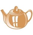 Gray teapot from porcelain vector image