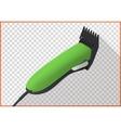Hair clipper platform cart isometric vector image vector image