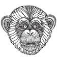 Hand drawn monochrome of ornate zentagle chi vector image vector image