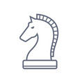 horse chess thin line icon flat icon vector image