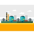 industrial nuclear power plant in flat style vector image