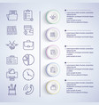 infographic set icons on vector image vector image