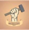 international workers day logo icon design vector image vector image