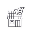 it house line icon concept it house linear vector image vector image