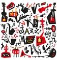 jazz instruments - doodles set vector image vector image