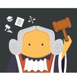 Judge with a hammer vector image vector image