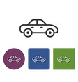 line icon of car in different variants vector image vector image