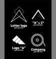logo letter a set vector image