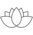 Lotus flower icon vector image vector image