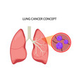 lung cancer concept repiratory disease vector image vector image