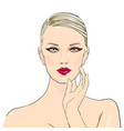 makeup cosmetics stylish original hand-drawn vector image