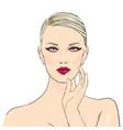 makeup cosmetics stylish original hand-drawn vector image vector image