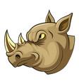 mascot head an angry rhino vector image