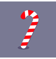 Merry Christmas Candy Cane Isolated Flat design vector image vector image