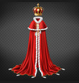 monarch crown and garment realistic vector image vector image