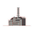 nuclear plant in flat style nuclear power energy vector image vector image