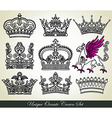 ornamental heraldic crown set vector image