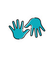 palm hand icon design template isolated vector image vector image