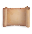Paper roll or horizontal old scroll parchment vector image vector image