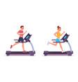 People run on running on treadmill