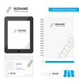 pop business logo tab app diary pvc employee card vector image vector image