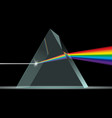 prism light spectrum realistic composition vector image