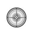 rose winds nautical compass navigator vector image vector image