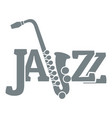 saxophone logo simple gray style vector image vector image