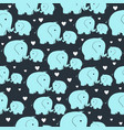 seamless pattern with morher and baby elephant vector image