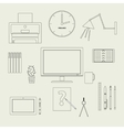 Set freelancer vector image vector image